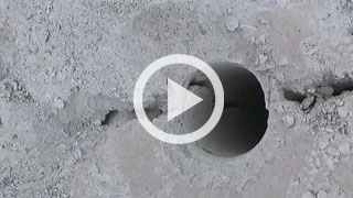 video: View of crack from splitter